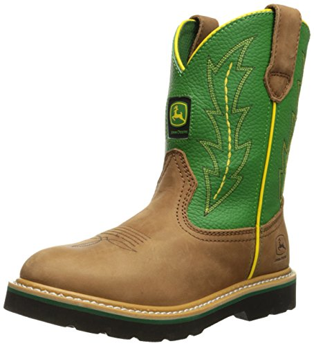 john-deere-jd3186-juventud-wellington-verde-marron-crazy-horse-piel-botas-color-multicolor-talla-35-