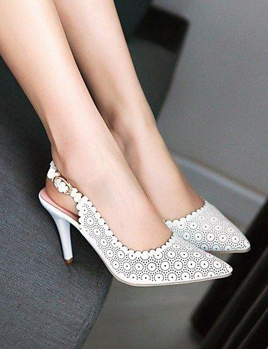 WSS 2016 Chaussures Femme-Mariage / Habillé-Rose / Violet / Blanc-Talon Aiguille-Talons / Bout Pointu-Talons-Similicuir white-us7.5 / eu38 / uk5.5 / cn38