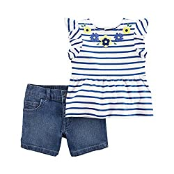 Carter´s Baby Girls' Outfit - Blue - 6-9 Months