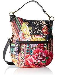 DESIGUAL, Damen Handtaschen, Henkeltaschen, Umhängetaschen, Hobo-Bags, Mehrfarbig, 29,5 x 34,5 x 2 cm (B x H x T)