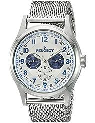 Reloj de los hombres de la Multi de la función de malla de acero inoxidable reloj de pulsera para mujer