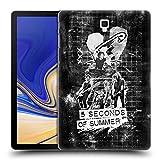 Head Case Designs Offizielle 5 Seconds of Summer Live Weiss Sicherheitsnadel Kunst Ruckseite Hülle für Samsung Galaxy Tab S4 10.5 (2018)