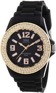 Q&Q - Z102J002Y - Montre Femme - Quartz Analogique - Bracelet Silicone Noir