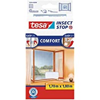 TESA Insect Stop Comfort Red Anti Mosquitos Ventana Blanco - Mosquiteras (1700 x 10 x 1800 mm, 141 g, Blanco, 454 g)