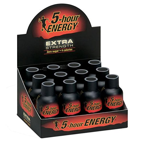 Extra Strength Energy Drink, Berry, 1.93 oz Bottle, 12/Pack, Sold as 1 Package -