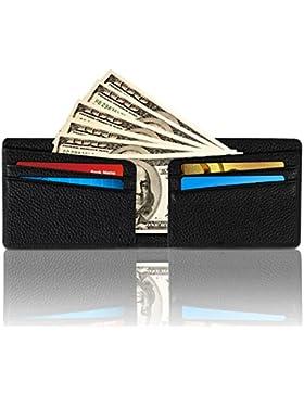 Wengerui Moda Tarjeta de Crédito Slim,RFID Bloqueo Monedero de Cuero,Mini Billetera para Tarjetas de Crédito