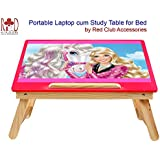 RedClub- Premium Barbie Laptop Cum Study Table (Foldable Table) With Adjustable Table Top - Red Colour