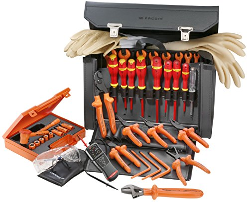 VSE FACOM 32 PIECE SET OF 1000V INSULATED VDE TOOLS WITH LEATHER WALLET BV 635754ae70063