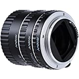 Andoer Metal Electronic TTL Auto Focus AF Macro Extension Tube Ring for Canon EOS EF-S 60D 7D 5D II 550D (Silver)