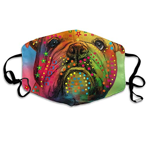 Mouth Mask English Bulldog Digital Art Earloop Face Mask - Adjustable Elastic Band for Running Outdoor, Anti Pollen Dustproof Face and Nose Cover, Half Face Mouth Mask/Cover