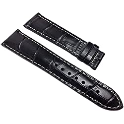 Maurice Lacroix Miros Replacement Band Watch Band Leather Strap Lousiana-croco print black leather 22mm 22002F