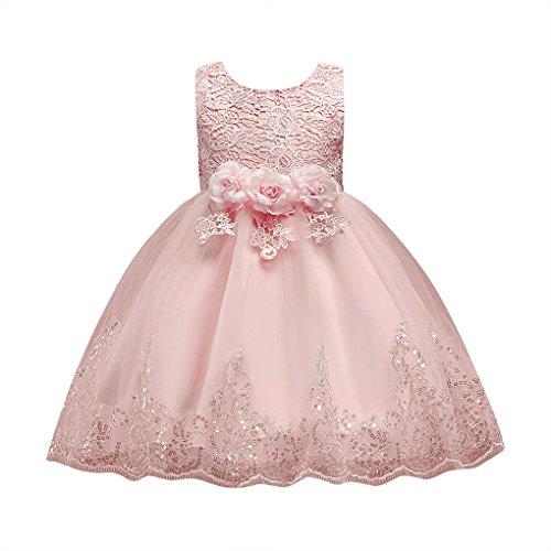 JYJM Floral Baby Mädchen Prinzessin Brautjungfer Festzug Kleid Geburtstag Party Hochzeitskleid...