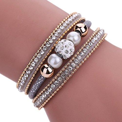 fulltimetm-women-bohemian-bracelet-pearl-woven-braided-handmade-wrap-cuff-magnetic-clasp-gray