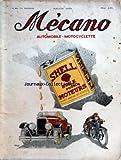 MECANO du 04/10/1928 - AUTOMOBILE ET MOTOCYCLETTE