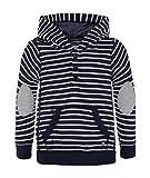 Marc O' Polo Kids Jungen Sweatshirt mit Kapuze, Mehrfarbig (Y/D Stripe 0001), 128