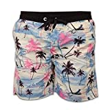 Hommes Hawaiian américains cordon élastiqué shorts de bain d'été