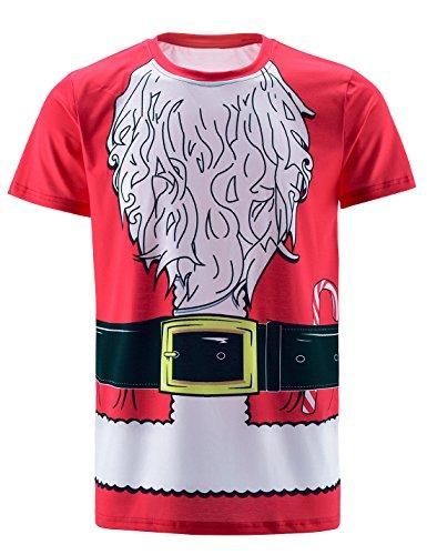 Funny World Herren Santa Claus Costume T-Shirts (4XL, Weihnachtsmann)