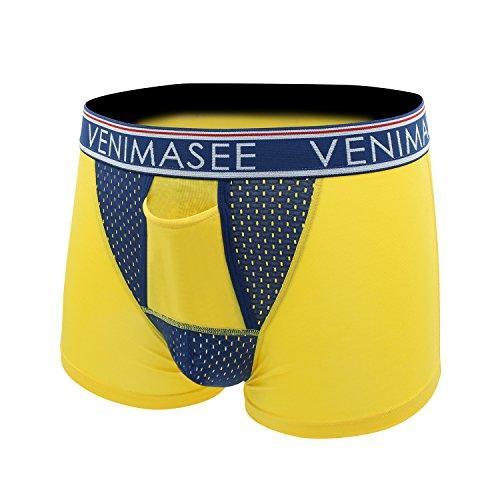 VENI MASEE® Gesundheit & Atmungsaktive Herren Boxershorts A-gelb