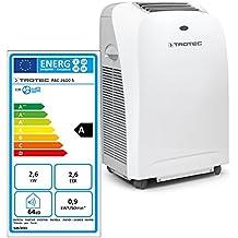 Trotec PAC 2600 S - Climatizzatore Portatile a 9000 Btu, Condizionatore D'Aria Locale Monoblocco da 2,6 Kw