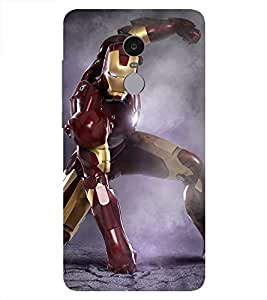 Ironman Printed Back Cover for Redmi Note 4