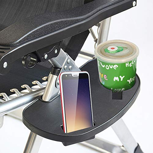 Librao Beistelltisch zum Anklippen; die Ablage für Telefon, Snacks, Tassen, Wasserflaschen kann einfach über einen Stuhl oder eine Liege geschoben werden (Telefon-beistelltisch)