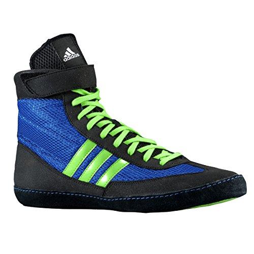Adidas Speed â??â??Combat Taille 4 Wrestling Chaussures de jeunesse Bahia Bleu / chaux 1,5 Bahia Blue / Lime Green / Black