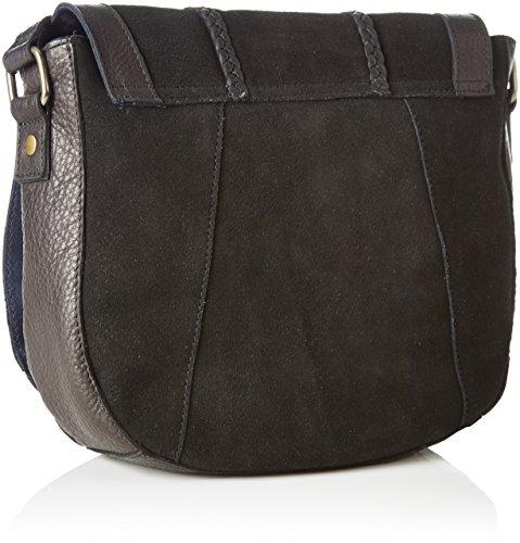 PIECES - Pccameo Leather Cross Over Bag, Borse a spalla Donna Nero (Black)