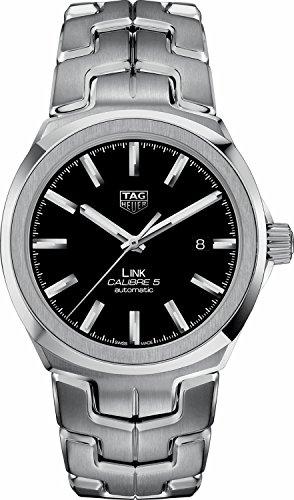 Tag Heuer Link 41mm schwarz Zifferblatt Herren-Armbanduhr wbc2110. ba0603