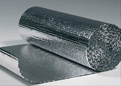 SuperFOIL Allzweck-Folien-Isolierung, 1,2 m x 12,5 m, 4 mm, doppelschichtiger Hitze-Reflektor für Wände, Böden, Dächer, Wohnmobil und Wohnwagen, 1 Rolle Aluminium-Luftpolsterfolie