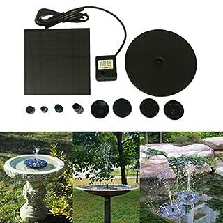 IGEMY Floating Solar Powered Pond Garden Water Pump Fountain Kit Bird Bath Fish Tank (Black)