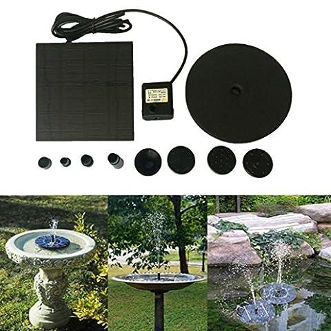 Igemy flottant Fonctionne à l'énergie solaire pour bassin Jardin Pompe à eau Fontaine Bain d'oiseau kit Fish Tank noir