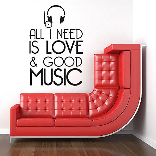 Alles-was-ich-brauche-ist-Liebe-und-gute-Musik-Liedtext-Wandaufkleber-Musik-Dekor-Kunst-Abziehbild-verfgbar-in-5-Gren-und-25-Farben-Extraklein-Knigliche-Blau