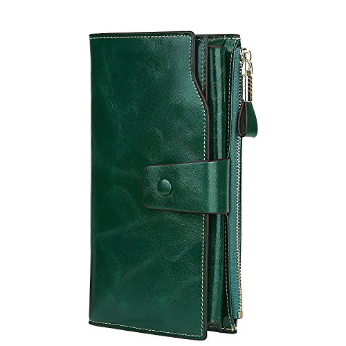 gdtk-womens-large-capacity-luxury-wax-genuine-leather-purse-wallet-green-rfid-blocking