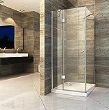 Duschkabine NORMA 100 x 100 x 190 cm ohne Duschtasse