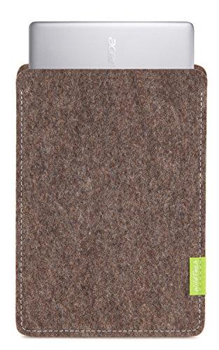 WildTech Sleeve für Acer Chromebook 14 (CB3-431-C6UD) Hülle Tasche aus echtem Wollfilz - 17 Farben (Handmade in Germany) - Natur-Meliert