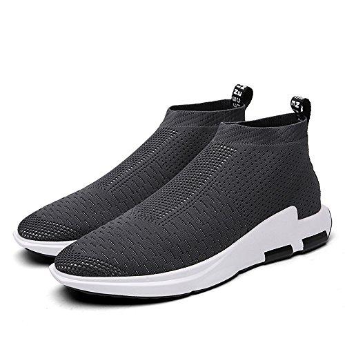 SITAILE Homme Chaussures de Course Sports Fitness Gym athlétique Baskets Sneakers Gris