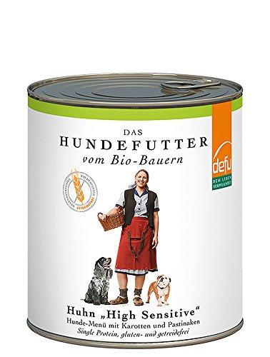 defu-Bio-Hundefutter-Nassfutter-getreidefrei-mit-zartem-Huhn-Hundefutter-mit-hohem-Fleischanteil-von-87-Prozent