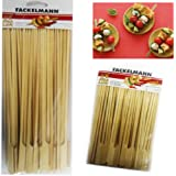 50 BBQ Bamboo Skewers Paddle Sticks Wooden Grill Kebab Barbeque Party Stick 25CM Pack