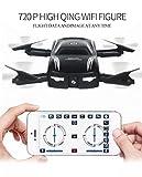 GJKK X185 Höhe halten HD Kamera Selfie Faltbare WIFI FPV RC Quadcopter Drohne Ferngesteuerte Flugzeuge Spielzeug Gyro Modellbau Flieger RC Drone Mini Drone Mini Pocket Tragbare Drohne Draussen Drohne Schwarz (Schwarz)