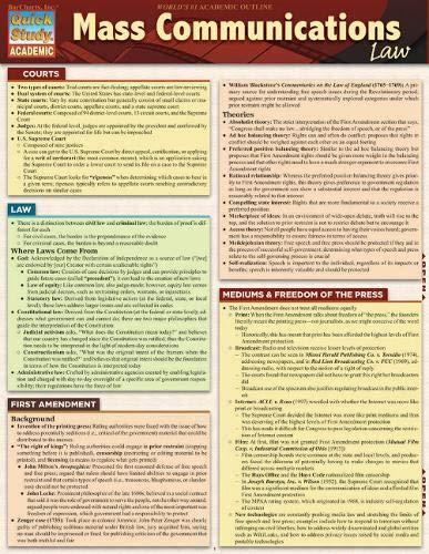 Mass Communications Law (Quick Study: Academic)