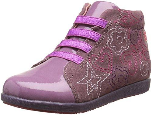 Agatha Ruiz de la Prada Luzia, Sneakers Hautes Fille Rose (B Morado/Rosa Oscuro)