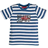 SALT AND PEPPER Jungen T-Shirt Rescue Stripe, Blau (Blue 434), 128 (Herstellergröße: 128/134)