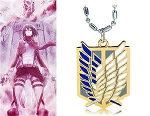 Anime Attaque Sur Titan Collier Dual-Wing (Gold)