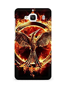 Amez designer printed 3d premium high quality back case cover for Xiaomi Redmi 2 (Mockingjay the hunger game)