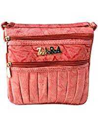 Women's Stylish Leather Sling Bag For Girls And Women Handbag - Multi Color (Size : 8X3X8inch)