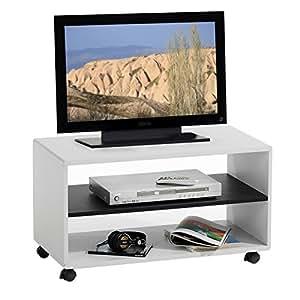 idimex tv m bel tv rack lowboard fernsehtisch tv tisch tv element atlanta wei schwarz mit. Black Bedroom Furniture Sets. Home Design Ideas