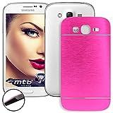mtb more energy Hard-Cover Brushed Metal per Samsung Galaxy Grand (GT-I9080) - Grand Neo/Neo Plus (GT-I9060(i), 5.0'') - Rosa - Case Custodia prottetiva con Metallo