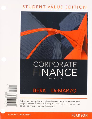Corporate Finance, Student Value Edition
