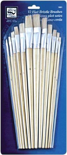 Loew-Cornell-Set di pennelli con setole Piatte, 12 Pezzi, Altri, Multicolore