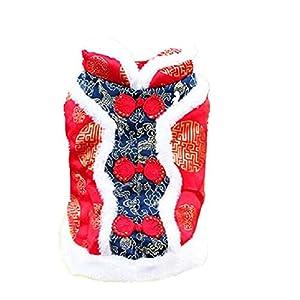 Yoxi pour animal domestique Tang Suit Chiot T Shirt chaud Capuche Manteau Vêtements Vêtements de Noël pour chien Vêtements chinois S-2X L